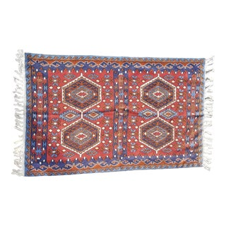 Hand Embroidered Silk Rug For Sale