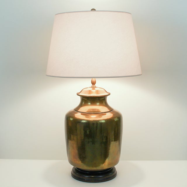 Vintage Oversize Asian Brass Lamp by Wildwood - Image 6 of 10