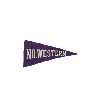 Mini No. Western University Felt Flag Pennant For Sale