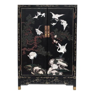 Chinese Export Black Lacquered Cabinet