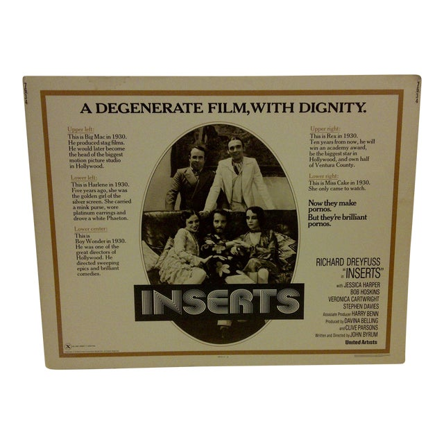 """Vintage Movie Poster """"Inserts"""" 1976 For Sale"""