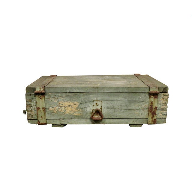 1950s Military Crate Wooden & Metal Ammo Box - Image 5 of 5