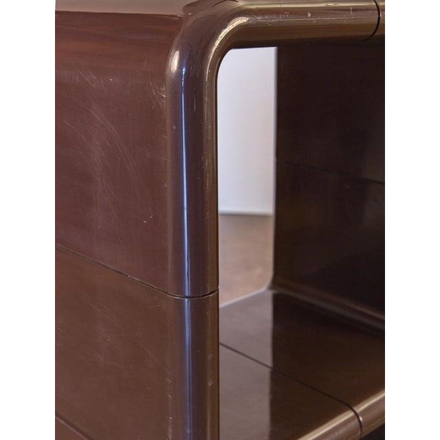 Plastic Kay Leroy Ruggles Brown Umbo Modular Shelf Unit for Directional For Sale - Image 7 of 10