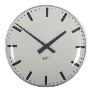 Large Mid-Century Wall Clock by Lm Ericsson For Sale