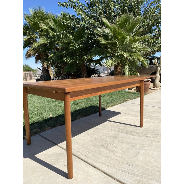 1950s Mid-Century Modern Teak Dining Table For Sale - Image 4 of 9