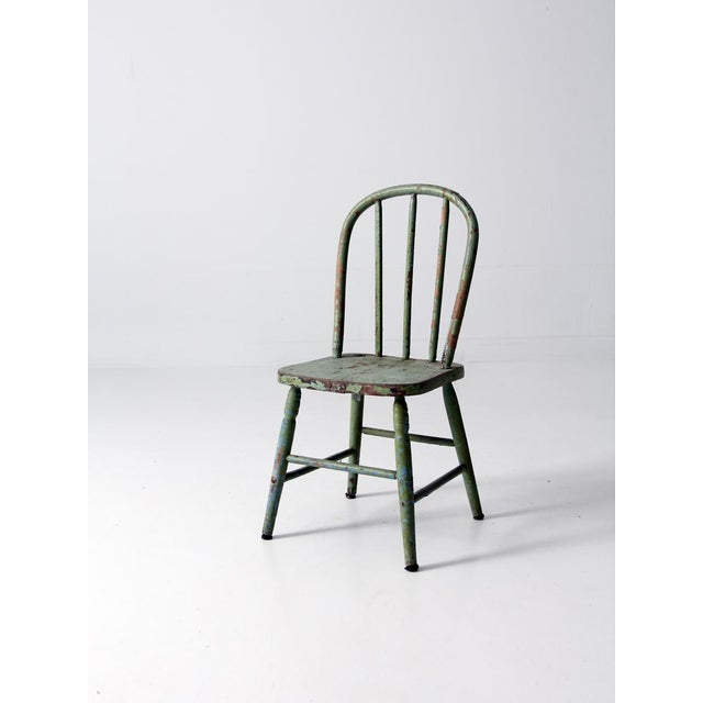 Antique Children's Chair With Spindle Back - Image 2 ... - Antique Children's Chair With Spindle Back Chairish