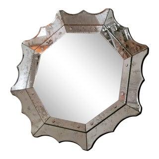 Vintage Venitian Style Octagonal Mirror For Sale