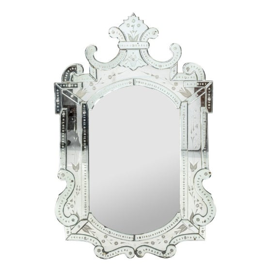 Mid 20th Century Etched Venetian Mirror For Sale - Image 9 of 9