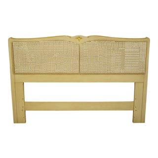20th Century French Provincial Davis Cabinet Country Queen Size Headboard For Sale