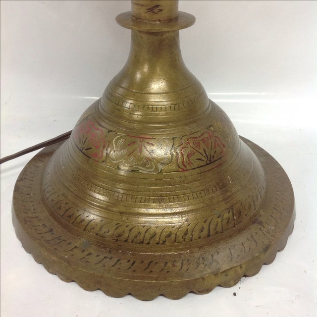 Brass Middle Eastern Floor Lamp For Sale - Image 7 of 7