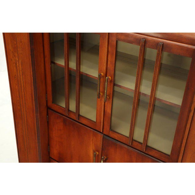Art Deco Waterfall Lift Top Compartments Bar Storage Sideboard Cabinet Bookcase For Sale In New York - Image 6 of 11