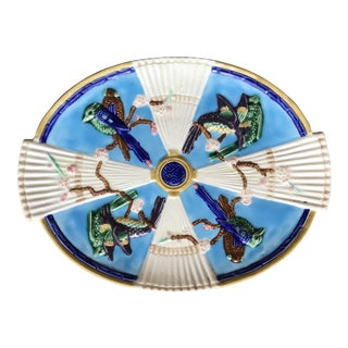 Mid-Century Majolica Plate for Seymour Mann For Sale
