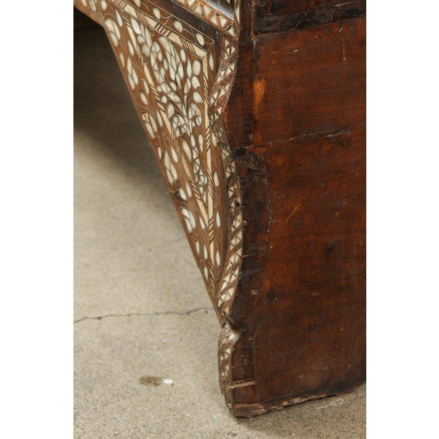 19th Century Antique Syrian Mother-Of-Pearl Inlay Wedding Trunk For Sale - Image 10 of 11
