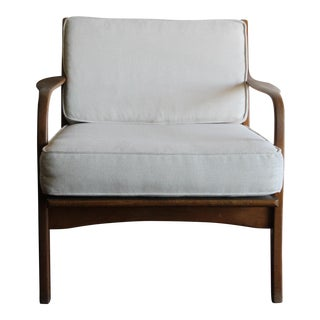 Vintage Mid Century Adrian Pearsall Craft Sculptural Walnut Lounge Chair For Sale