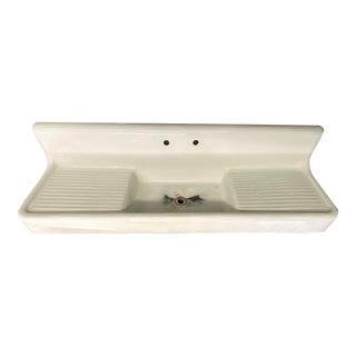 1920s Farmhouse Sink Double Washboard For Sale