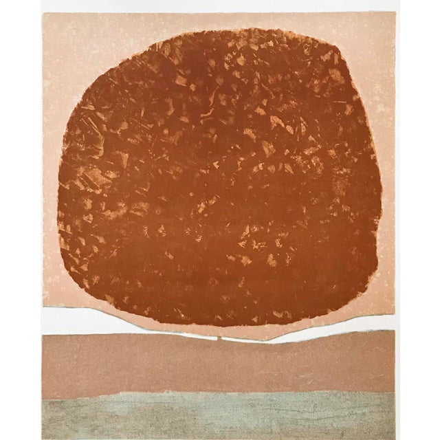 1970s Abstract Composition Lithograph - Signed For Sale - Image 4 of 5