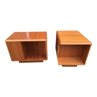 1960s Danish Modern Rabami Teak Side Tables - a Pair For Sale