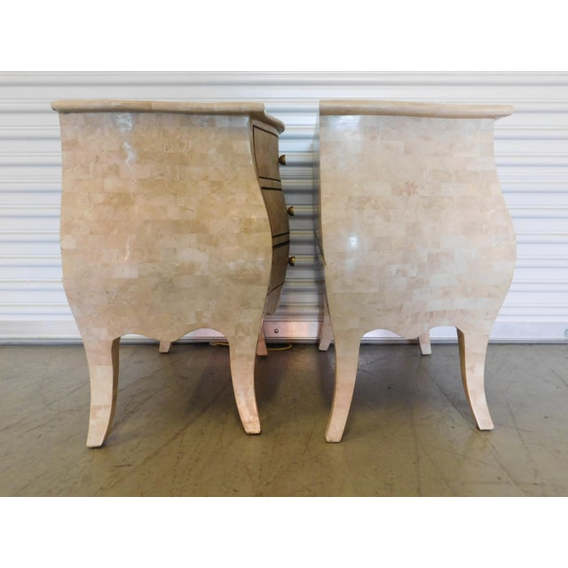 Maitland-Smith Mid-Century Vintage Tessellated Bombay Chests- A Pair - Image 7 of 11
