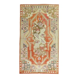 Bright Coral and Pink Samarkand Khotan Rug, 5'9'' X 10'1'' For Sale