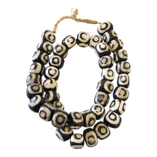 "African Jumbo Bone Trading Beads 30"" For Sale"