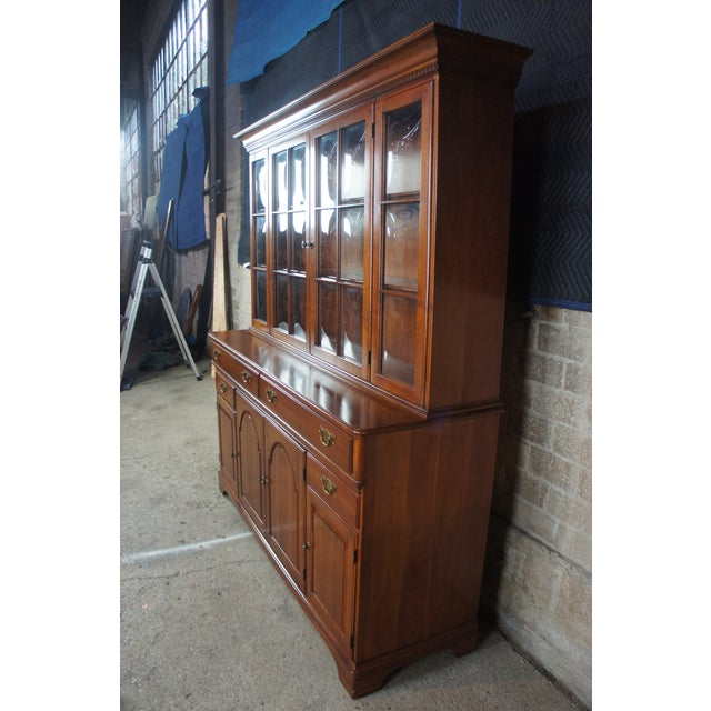 Traditional Pennsylvania House Cherry China Display Cabinet For Sale - Image 9 of 13