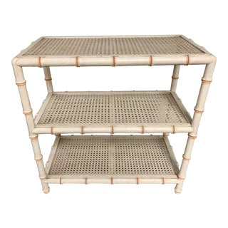 John Widdicomb Faux Bamboo Book Shelf For Sale