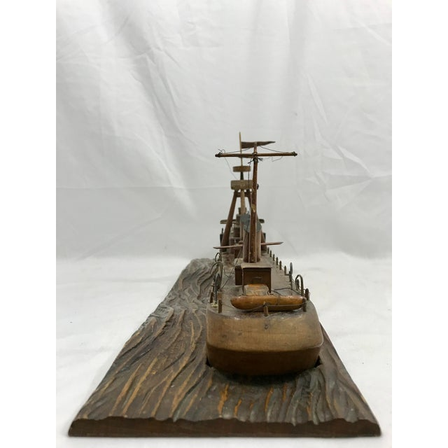 1940s French Folk Art Ship For Sale - Image 5 of 7