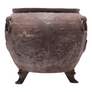Chinese Celestial Sea Cast Iron Vessel For Sale