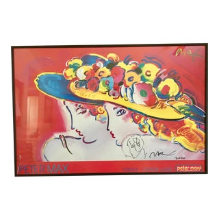 """""""Friends""""by Peter Max Signed Drawing For Sale"""