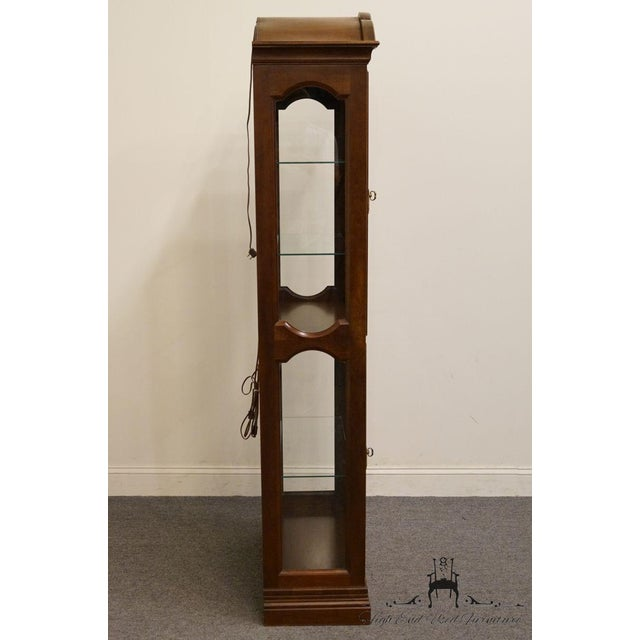 """Brown Jasper Cabinet St. Albans Collection 28"""" Display Curio Cabinet 338-1 For Sale - Image 8 of 12"""