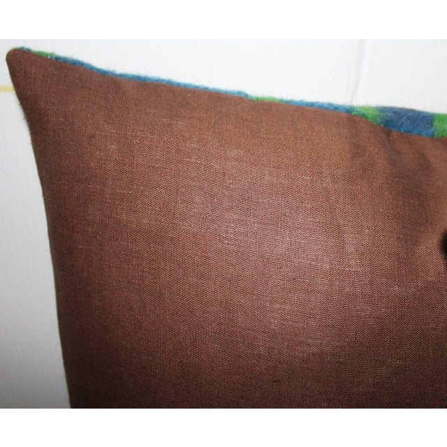 Pair of 19th Century Wool Horse Blanket Pillows - Image 4 of 4