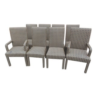 Parson Style Dining Chairs - Set of 8 For Sale