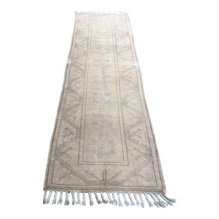 1960s Turkish Handmade Oushak Runner For Sale