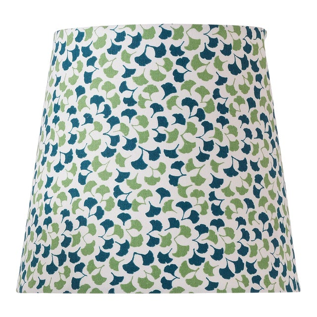 Small Madcap Cottage Howards End Leaf-Print Fabric Lamp Shade For Sale