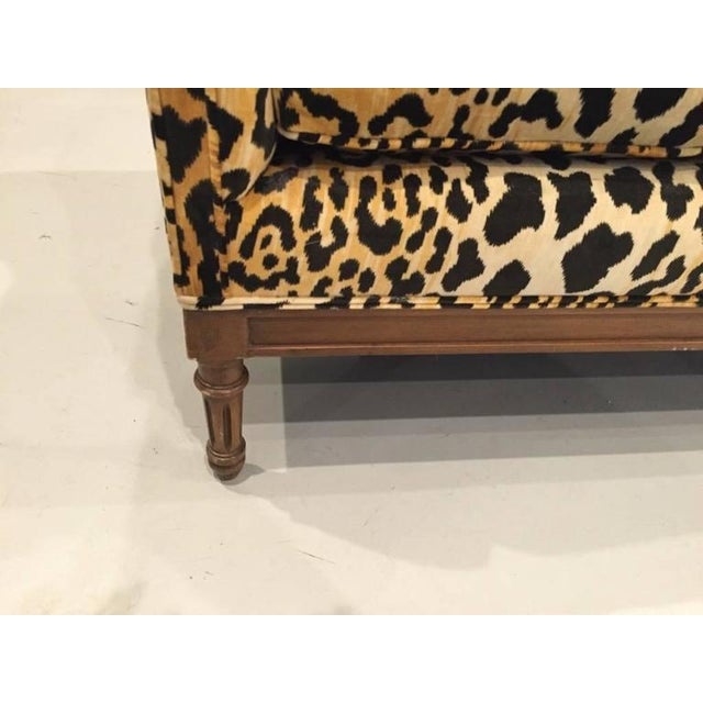 Mid-Century Leopard Print Sofa For Sale - Image 4 of 10