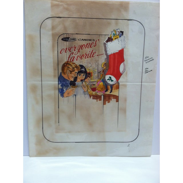 "This is an Original Drawing of Advertising Art that is titled ""M&M / Mars Candies - Everyone's Favorite"". The Drawing is..."