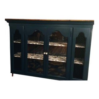 1930's Vintage China Cabinet Hutch Top For Sale