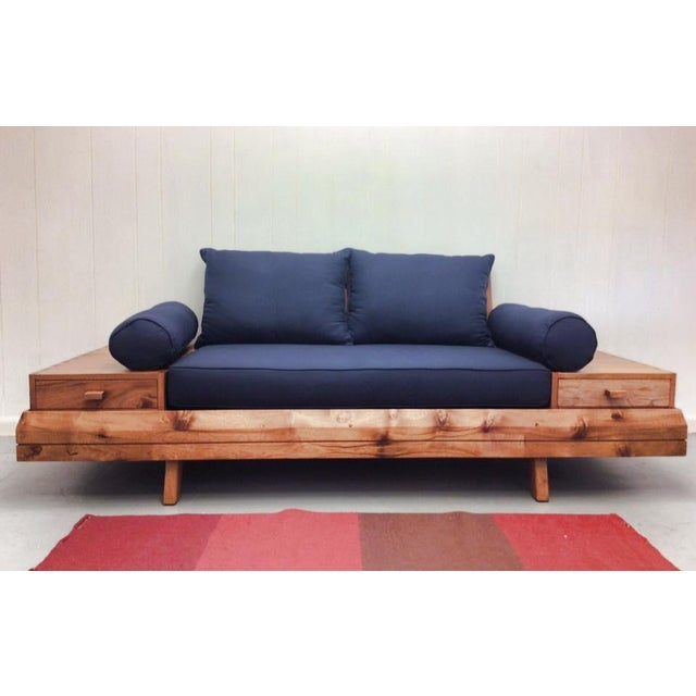 Floating Blue Loveseat by Masaya & Company - Image 8 of 8