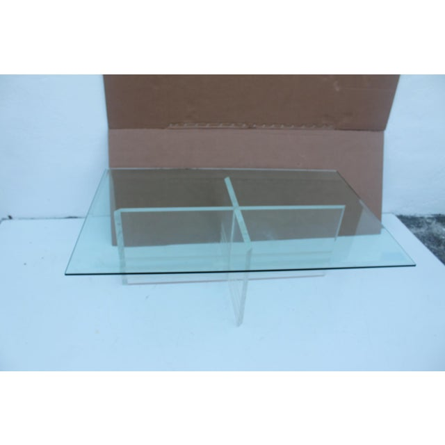 Vintage Lucite Coffee Table - Image 2 of 8