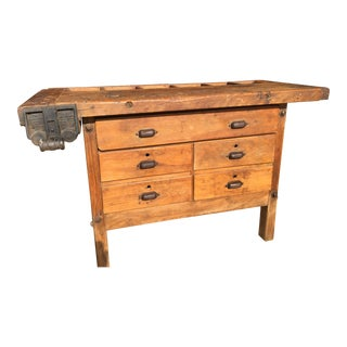 Early 1900s Christiansen Maple Workbench For Sale