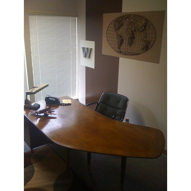 Standard Mid Century Boomerang Desk For Sale - Image 5 of 7