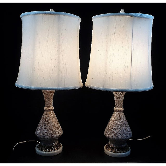 Art Glass Barovier E Toso Style Murano Glass Table Lamps - a Pair For Sale - Image 7 of 7