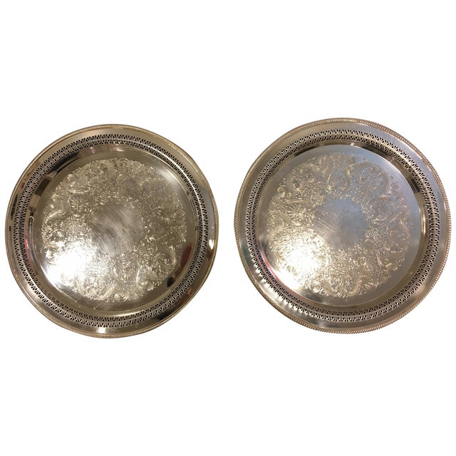 W.M. Rogers Silverplate Trays #162 & 4272p - Pair - Image 1 of 10