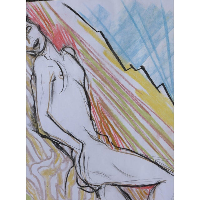 Sunbather Pastel Drawing - Image 2 of 5