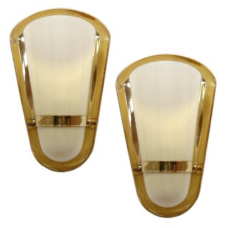 1950s German Wall Lights - a Pair For Sale