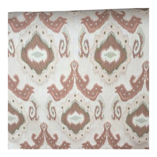 Stylized Ikat Creamy Rose & Brown Fabric - 6 Yards