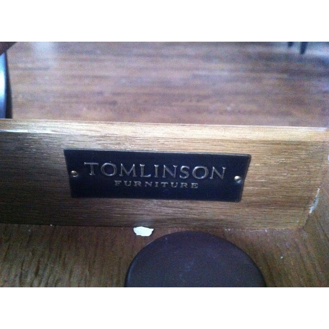 Tomlinson Leather Top Game Table - Image 6 of 6