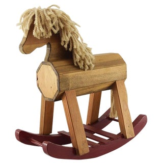 Vintage Rocking Horse - Handmade For Sale