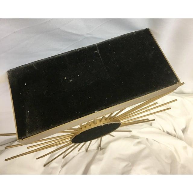 Vintage Gold Metal Starburst Vanity Mirror - Image 9 of 10