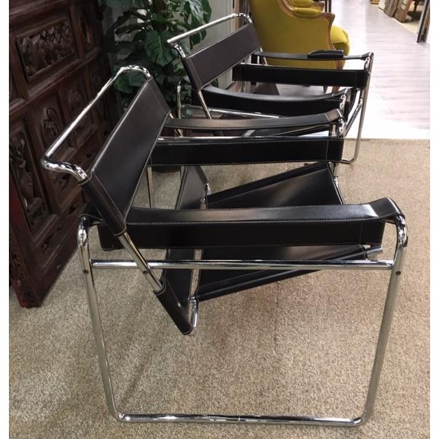 Bauhaus Pair Marcel Breuer Wassily Chairs For Sale - Image 3 of 9